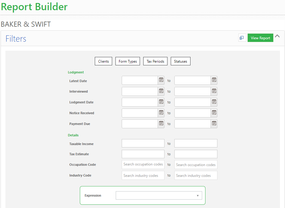 Sage HandiTax Cloud - Report Builder