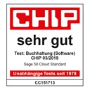 Chip Testurteil: sehr gut - Sage 50cloud Standard