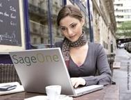 Sage One bietet auch im Café einen Überblick über die Einnahmen und Ausgaben.