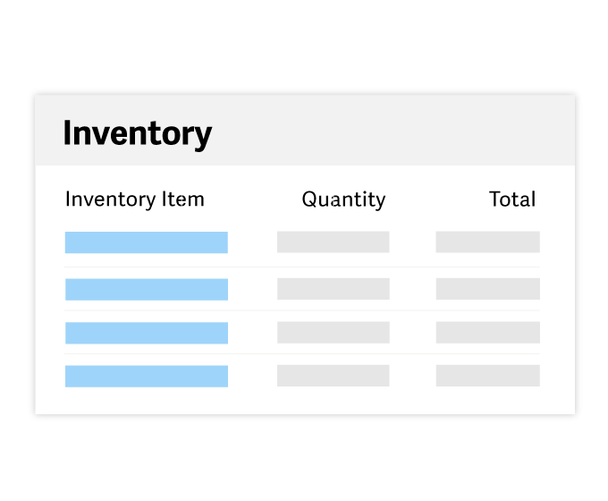 Illustration of the Sage 50 Inventory screen