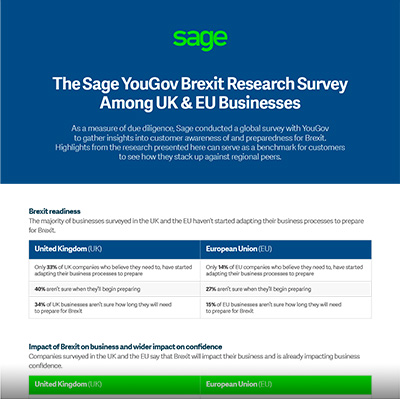 Sage YouGov Brexit Research Survey
