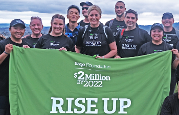Sage colleagues commencing Three Peaks Australia for the Two million Challenge