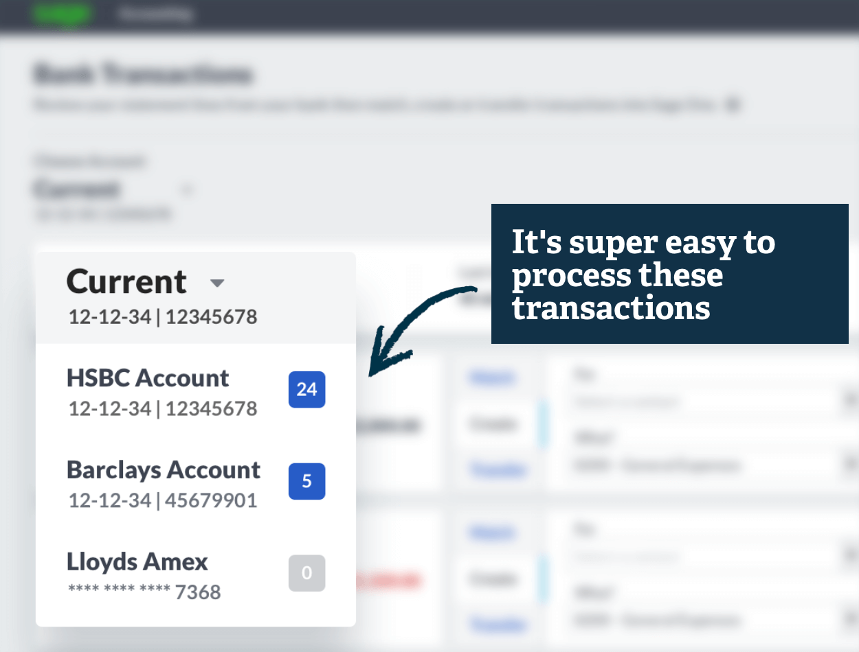 Screenshot of Sage Business Cloud Accounting transaction approval process