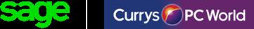Sage Currys PC World partnership logo