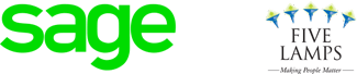 Sage Five Lamps partership logo