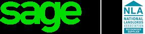 Sage National Landlords Association partnership logo