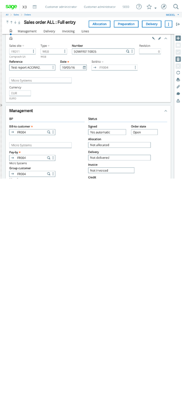 Enterprise Management tablet screenshot