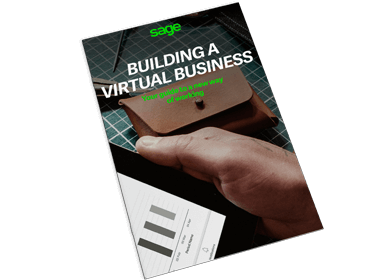 Front cover of Sage guide, Building a Virtual Business