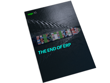 Front cover of Sage guide, The End of ERP