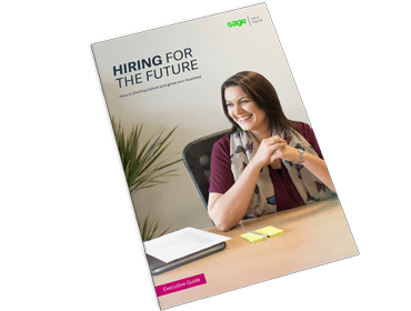 Front cover of Sage guide, Hiring for the Future