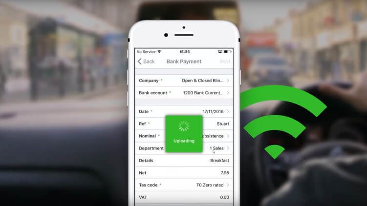 video showing a smartphone processing a payment using Sage