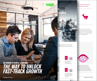 Front cover of Sage eBook, Becoming a People Company: The Way to Unlock Fast-Track Growth