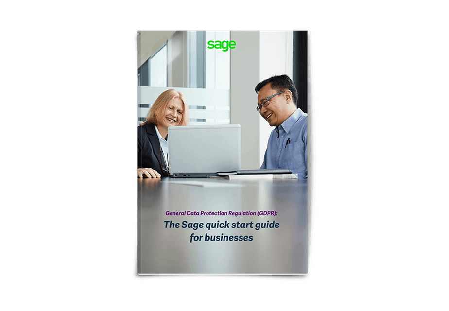 Front cover of Sage GDPR Quick Start Guide for Businesses