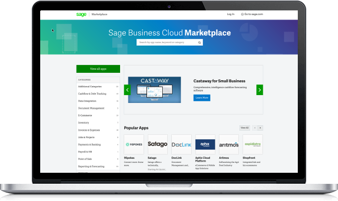 Sage Marketplace UK screen view