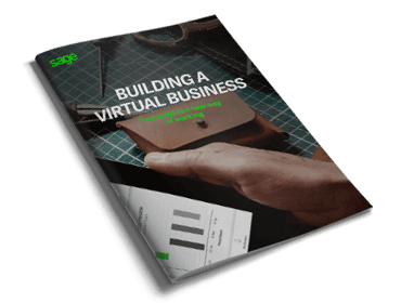 Front cover of Sage guide to Building a Virtual Business