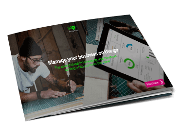 Front cover of Sage Manage Your Business on the Go guide