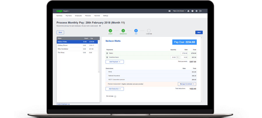 process monthly pay screenshot 2