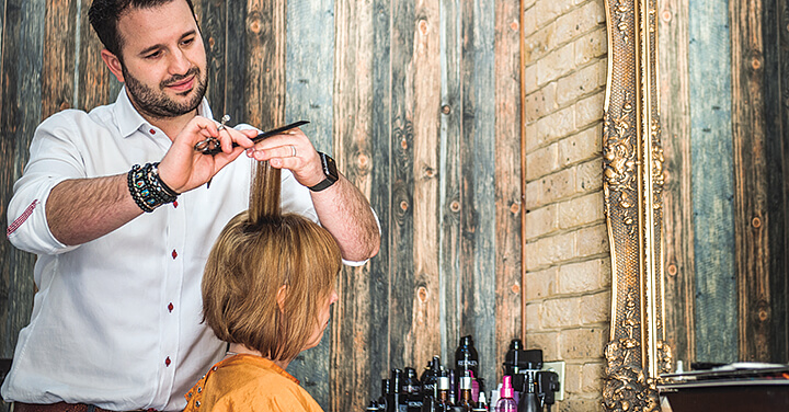 Photo of Frank Lusso Hair - Sage Customer - cutting hair