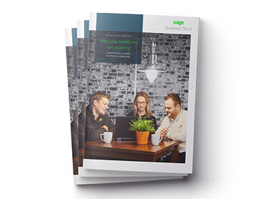 Front cover of Sage report, Why Your Workforce Isn't Working