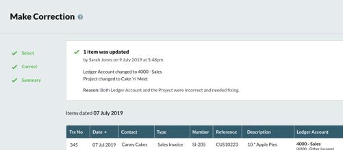 Collaboration screen - SBC Accounting