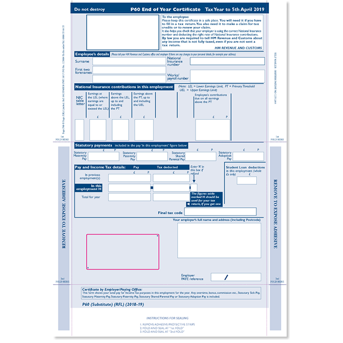 Sage Security Payslip Wageslip Mailable 25 Payslips
