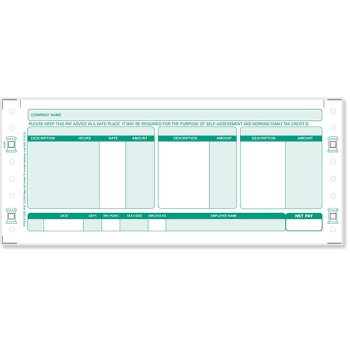Sage Security Payslips Stationery Sage Store