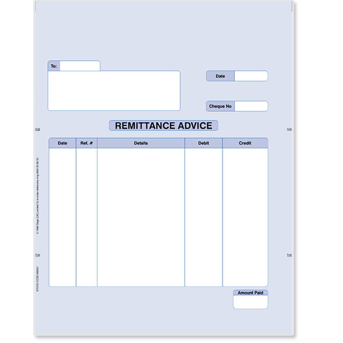 Sage Remittance Advice Stationery Sage Store