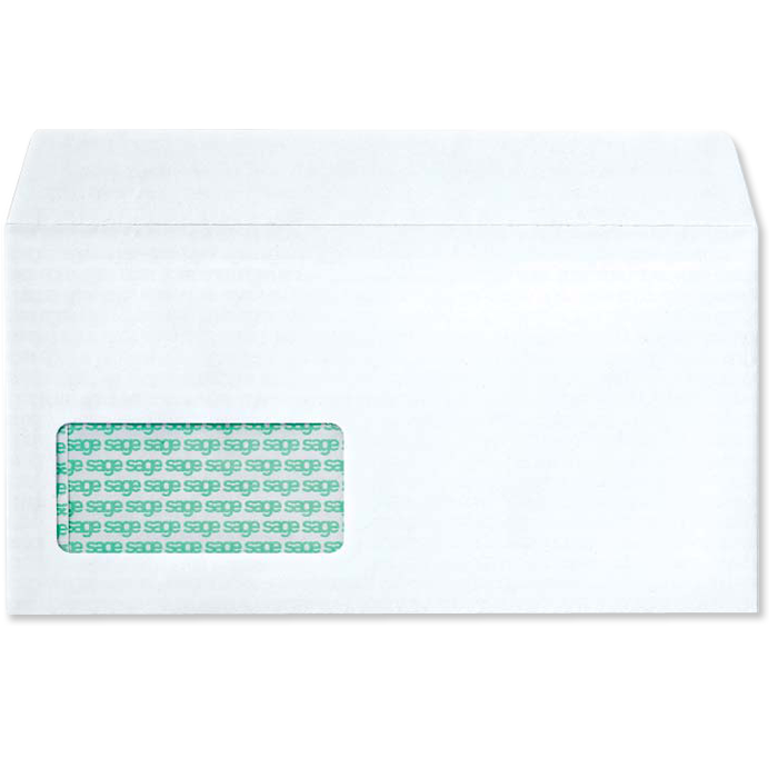 Sage payroll stationery stationery sage store for Window envelopes