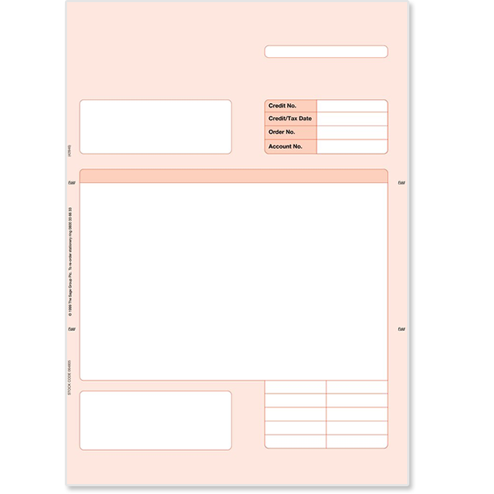 Sage credit notes stationery sage store for Sage line 50 invoice template