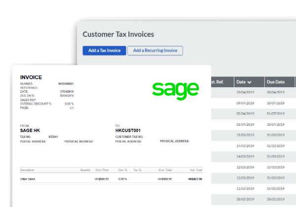 Sage Business Cloud Accounting - Invoicing