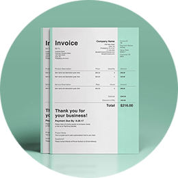 Colorful icon of invoice templates