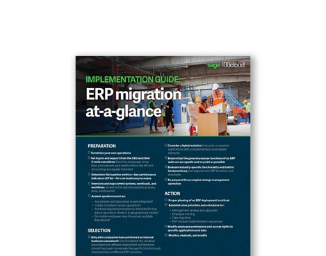 ERP migration at-a-glance implementation guide