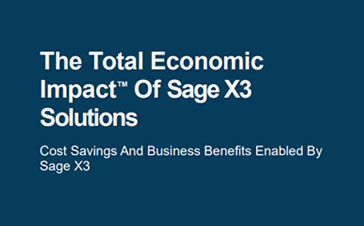 Forrester TEI of Sage X3 Solutions report cover