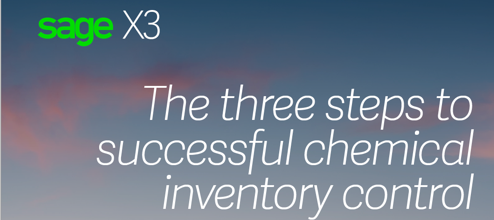 The three steps to successful chemical inventory control