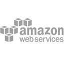 Logotipo de Amazon Web Services con cajas de color negro
