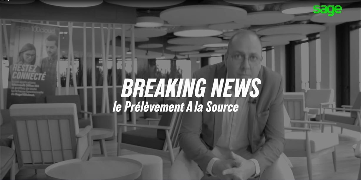 BREAKING NEWS Prélèvement à la source