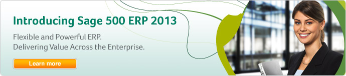 Introducing Sage 500 ERP 2013