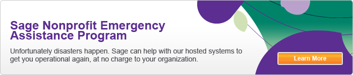 Sage Nonprofit Emergency Assistance Program