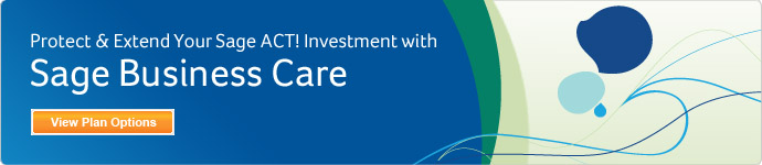 Protect and Extend your Sage ACT! investment with Sage Business Care