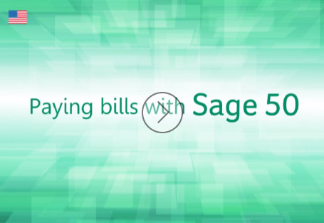 Paying Bills with Sage 50