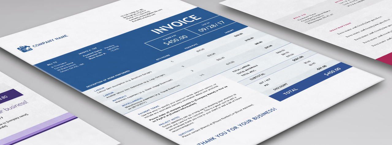 Contractor Invoice Templates For Word Excel Sage Canada