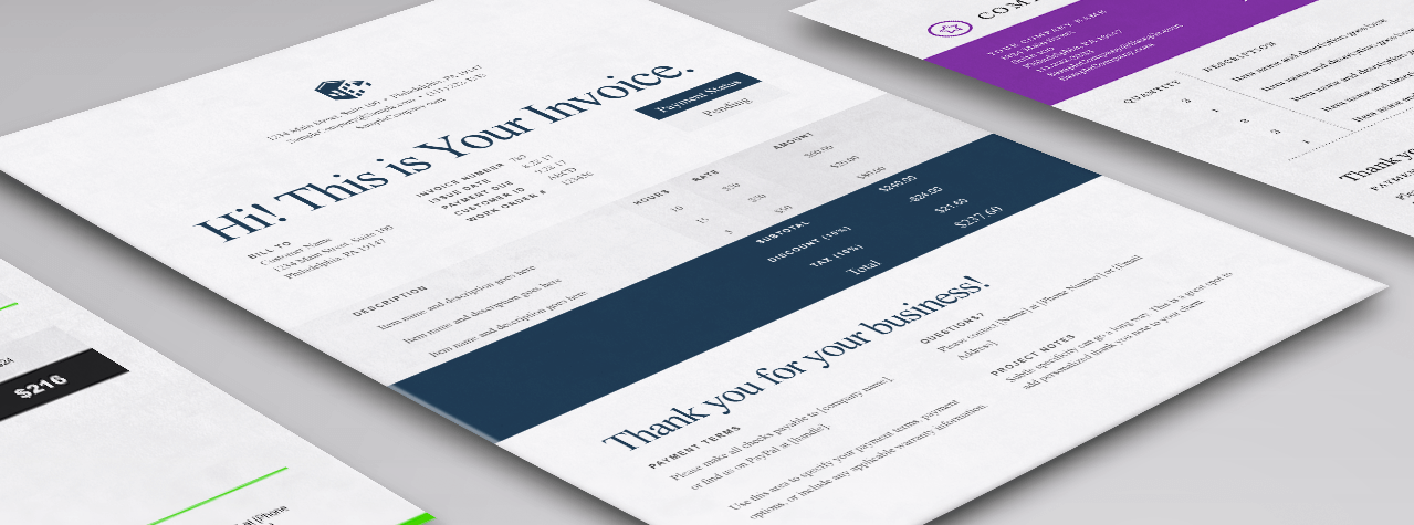 professional services invoice template free