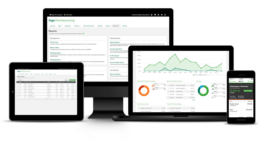 Sage One is an attractive web-based accounting application for smaller businesses globally.