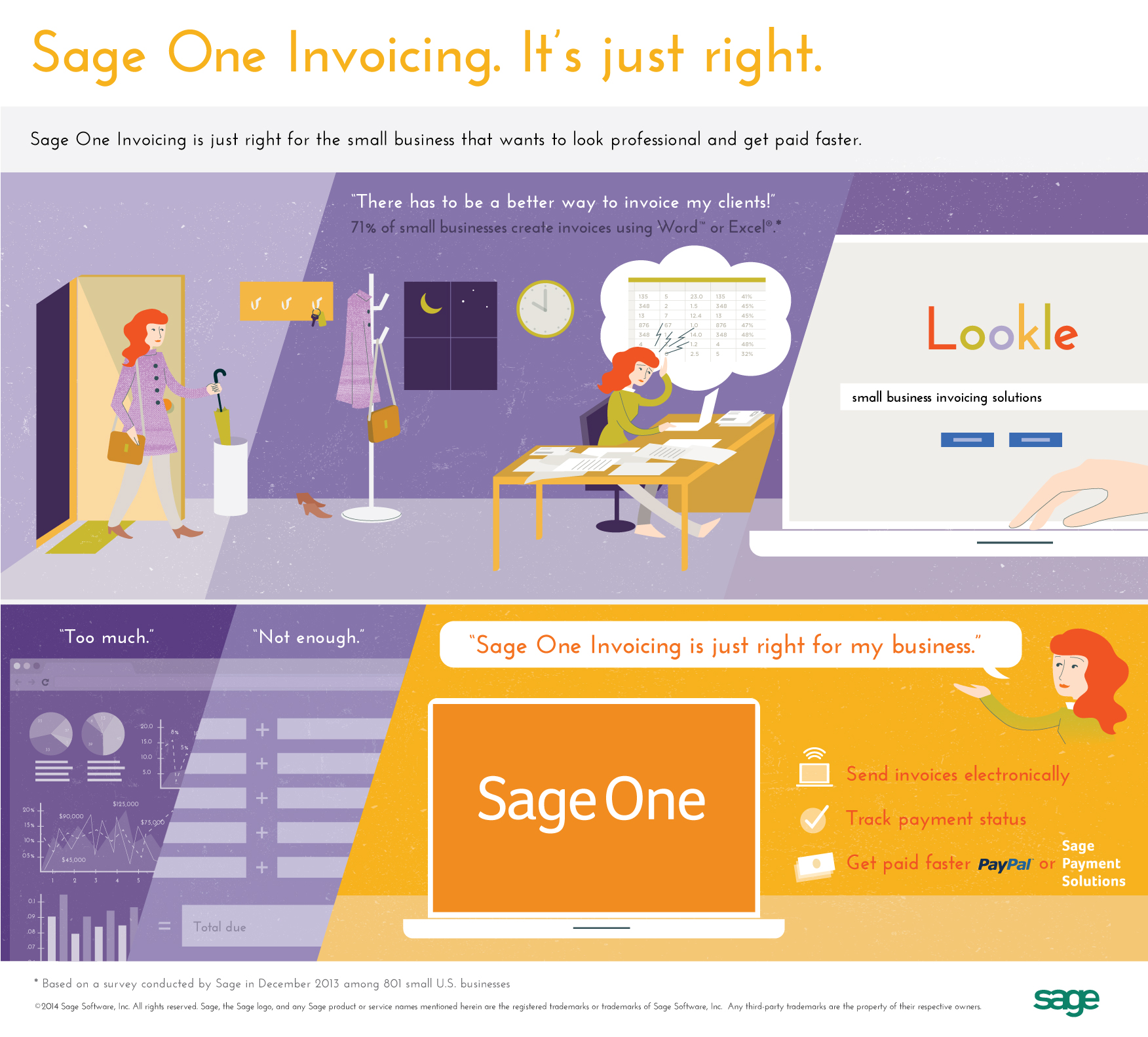 sage one invoicing is just right