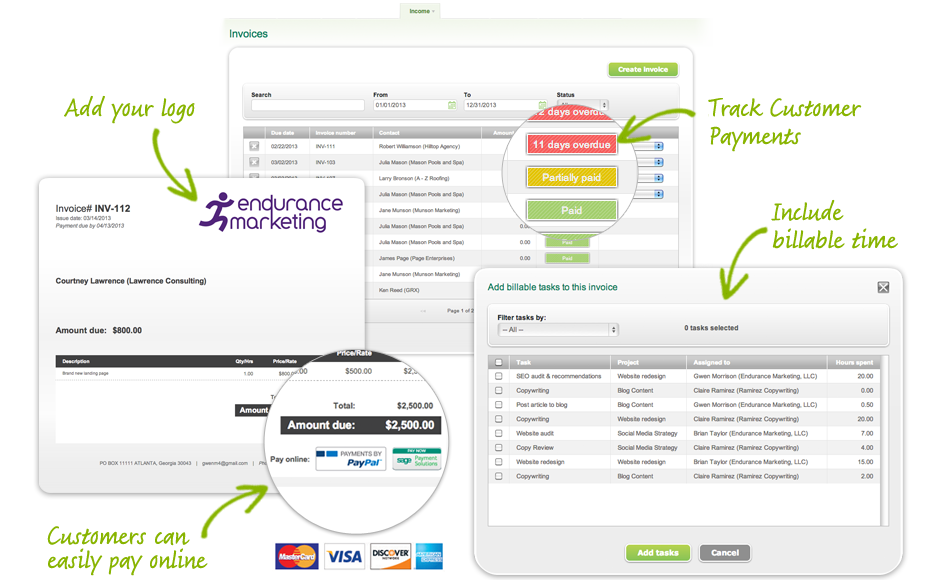Sage One invoicing and online payment