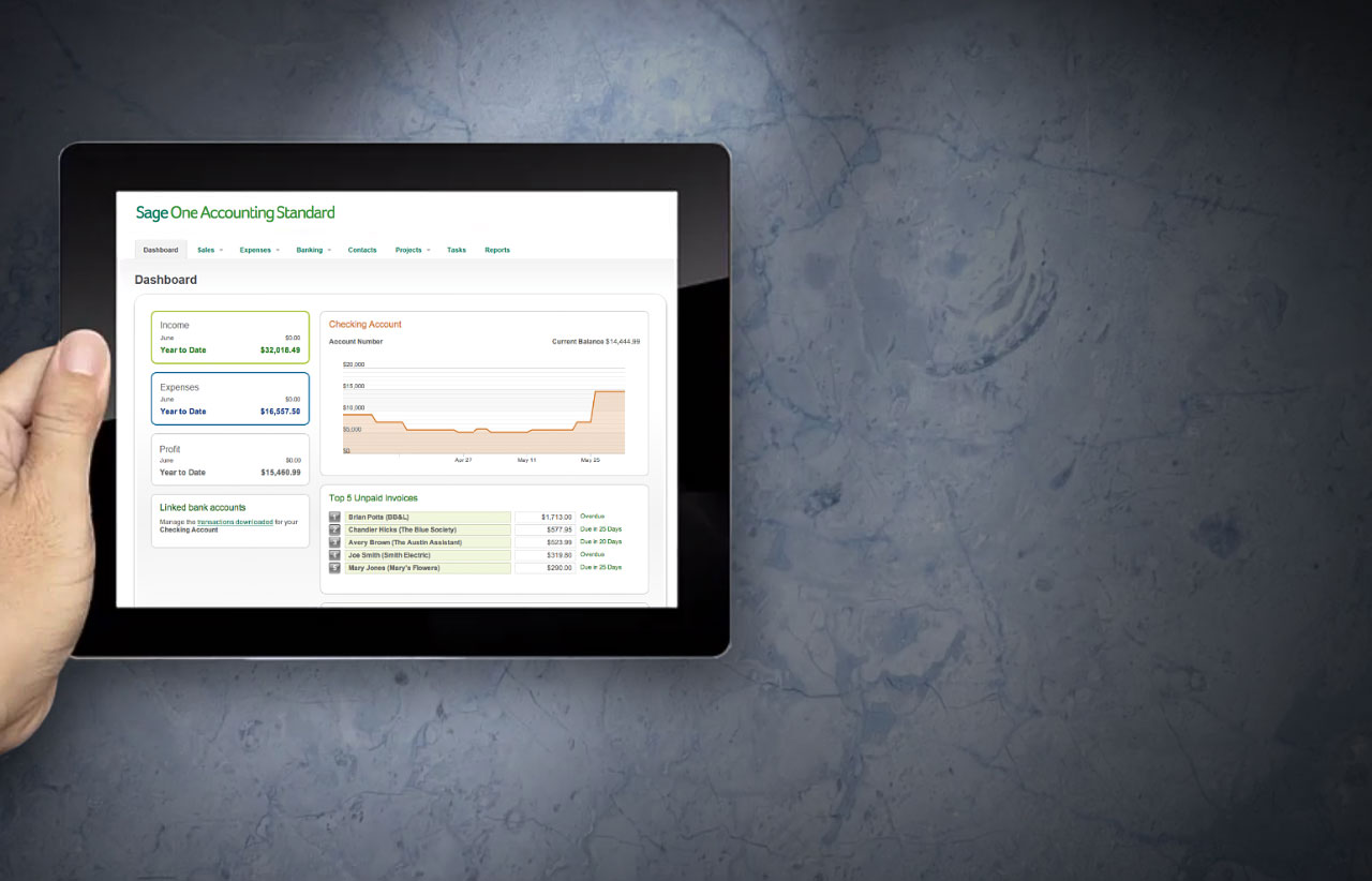 Online accounting software - Sage One