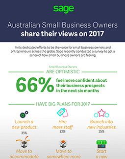 Infographic Australian Small Business Owners Share Their View on 2017