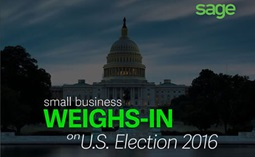Slide from a Sage presentation, Small Business Weighs-In on US Election 2016
