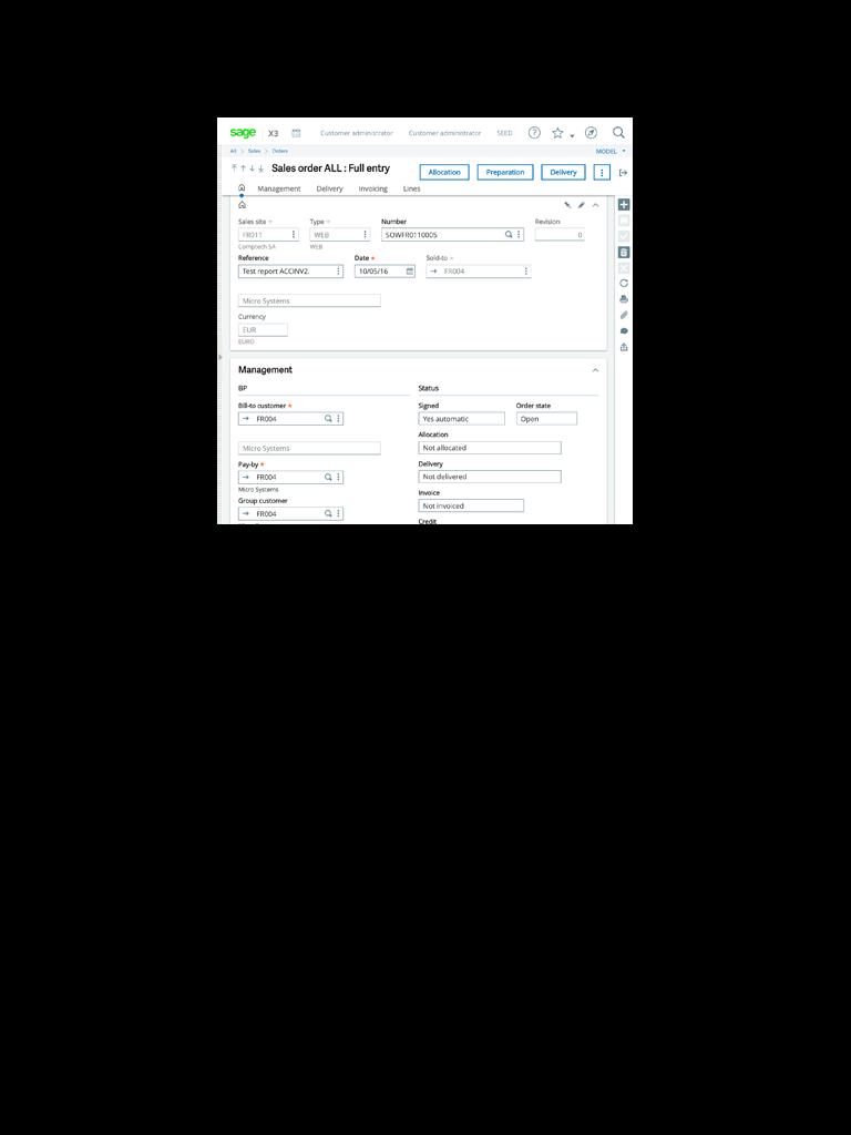 Enterprise Management tablet screenshot