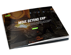Front cover of the Sage guide, Move Beyond ERP